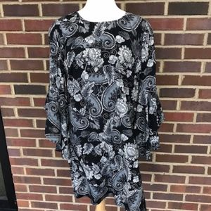 Shift Dress with Bell Sleeve